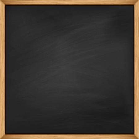 blackboard: Pizarra vacía con marco de madera. El uso de puré