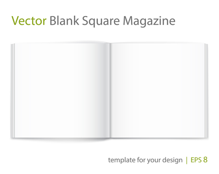 open magazine: Vector blank of open magazine on white background.