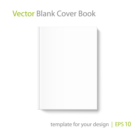 periodical: Mock up book cover on white background. Vector template for your design.