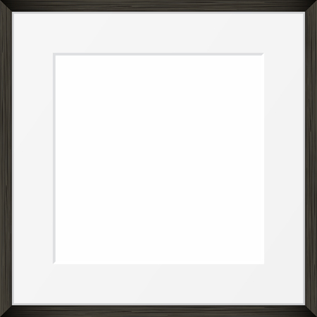 pictureframe: Square Blank picture frame template. Realistic black frame Illustration