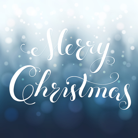 Merry Christmas calligraphy lettering. 矢量图像