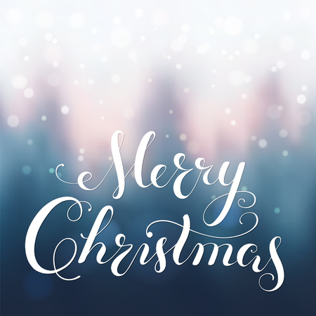 Merry Christmas calligraphy lettering. Illustration