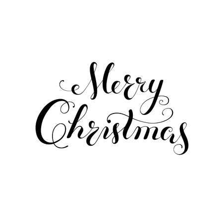 Merry Christmas vector text Calligraphic Lettering design card templateCreative typography for Holiday Greeting Gift Poster. Calligraphy Font style Banner 矢量图像