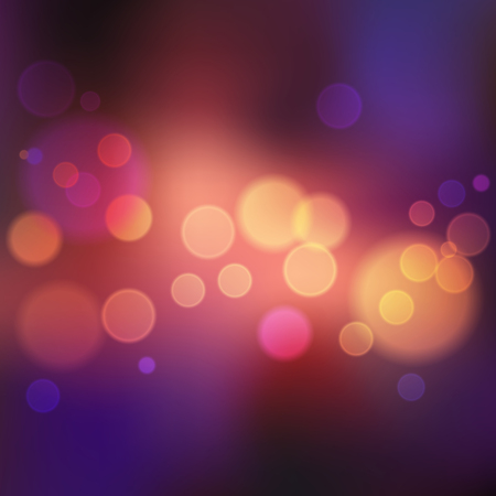 Abstract violet blurred background with lights and bokeh. Square format