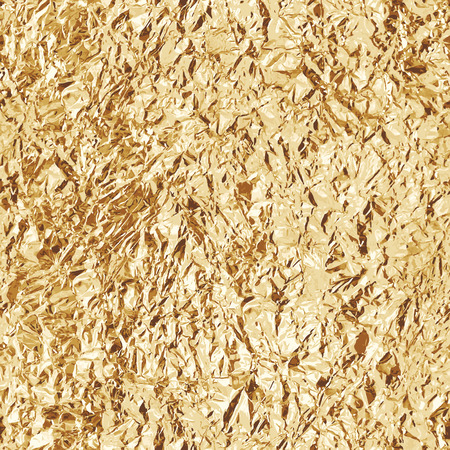 Crumpled gold foil. Seamless texture. Vector beckground 矢量图像