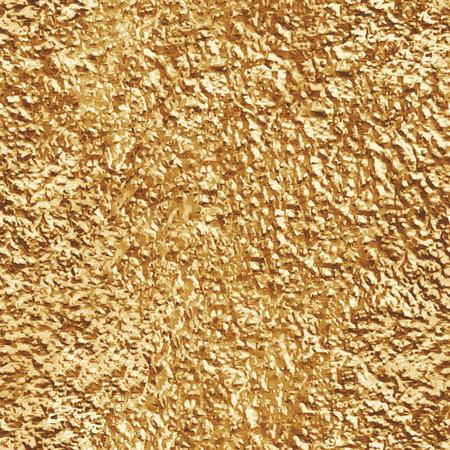 Crumpled gold foil. Seamless texture. Vector beckground Illustration