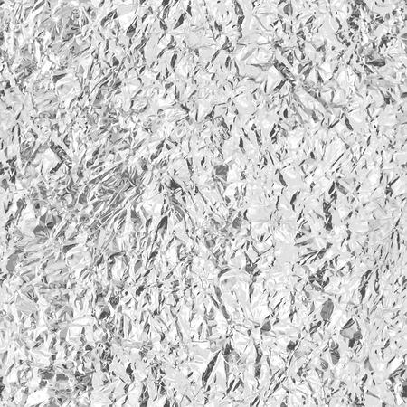 Crumpled silver foil. Seamless texture. Vector beckground