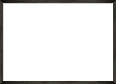 Blank picture frame template. Realistic black frame for photo or poster. Horizontal orientation A4