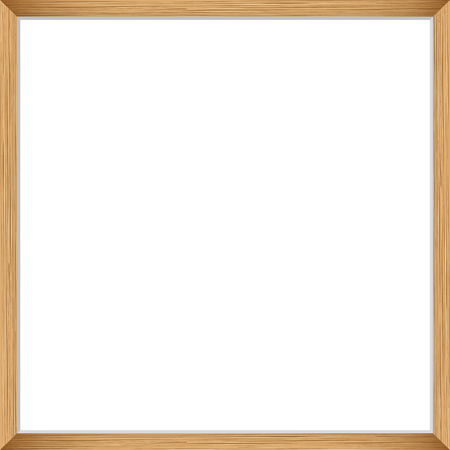 Blank picture frame template. Realistic wooden frame for photo or poster. Square orientation A4 Illustration