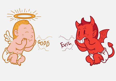 angel and devil: Angel and devil