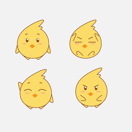cute animal cartoon: Chick
