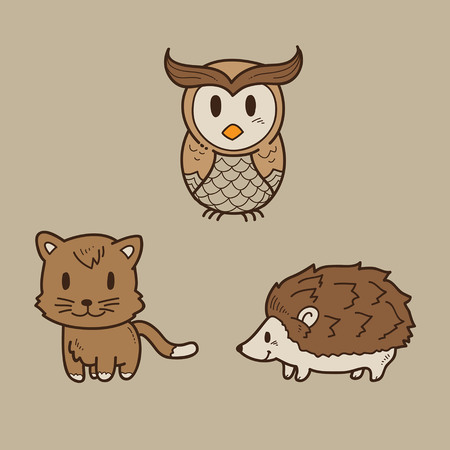 owl vector: Cartoon animal