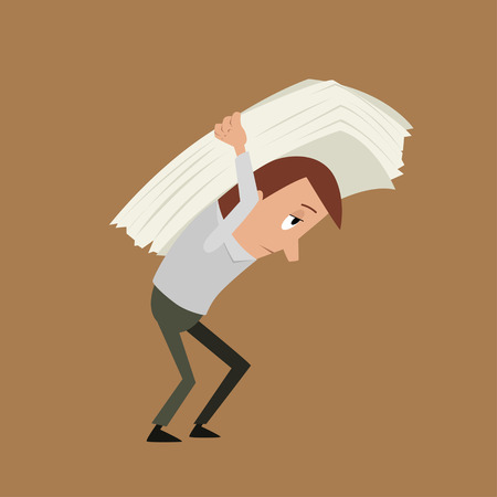 carrying: Carrying paper Illustration