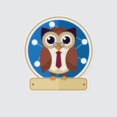 owl vector: Owl Sticker
