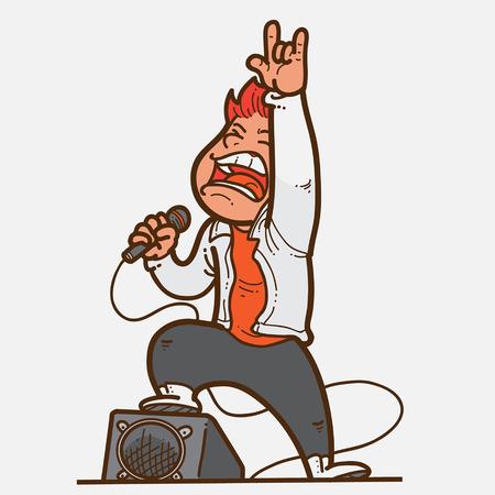 celebrities: Rock Star Illustration