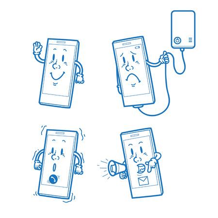 smart: Cartoon Smart Phone Illustration
