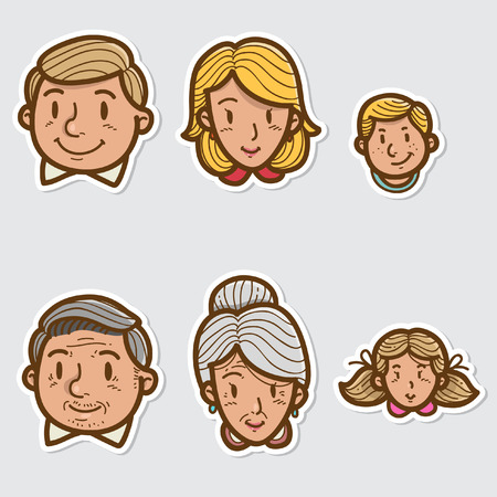 kin: Family Sticker Illustration