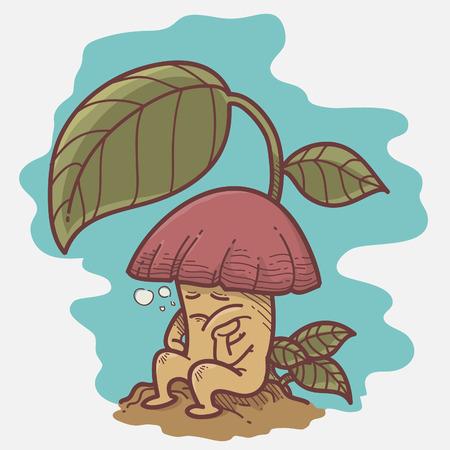 cartoon: Cartoon mushroom