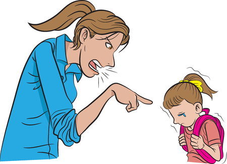 scold: Mother scold child
