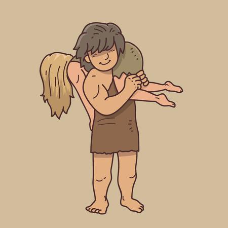 Caveman couple