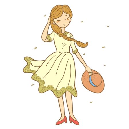 villager: Illustration of autumn girl