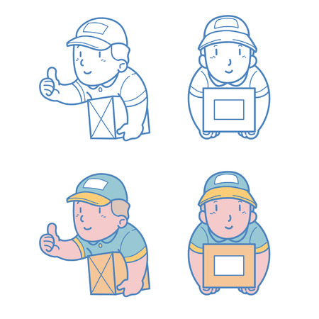 courier man: Courier man Illustration
