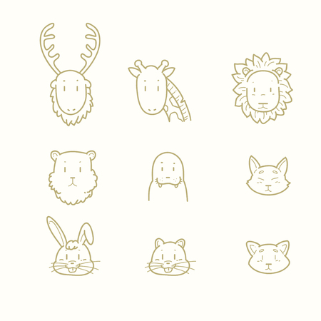 Various animal doodle Illustration