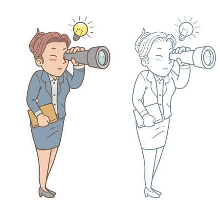 scouting: Scouting business woman Illustration