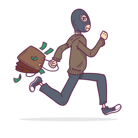 robberies: Thief running with money
