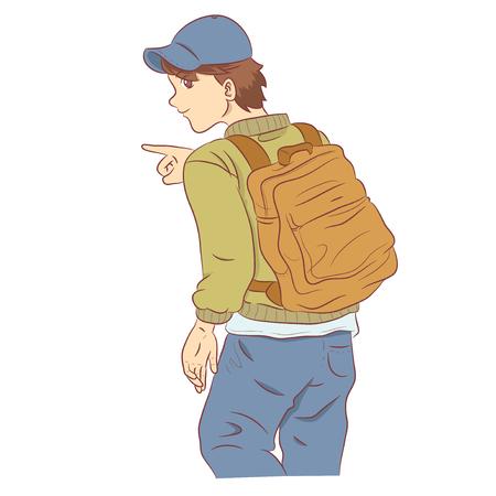 People on a journey Иллюстрация