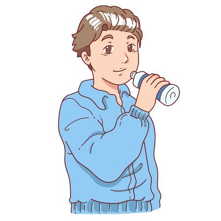 Man drinking after exercise