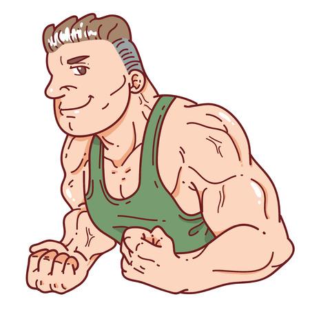 Muscle Man  Banque d'images - 69809258