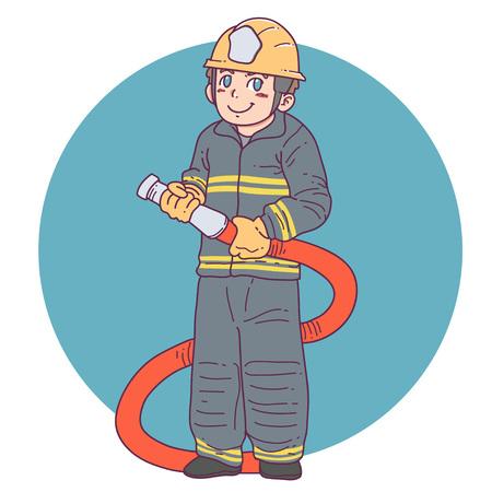 fireman cartoon Illusztráció