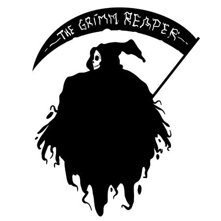 grimm reaper hand drawn Ilustração