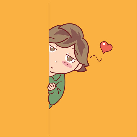 stalking: boy stalking his crush
