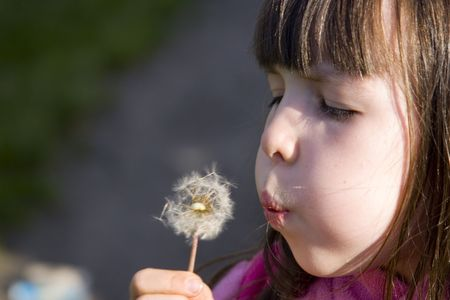 girl with blow ball Stock Photo - 722741