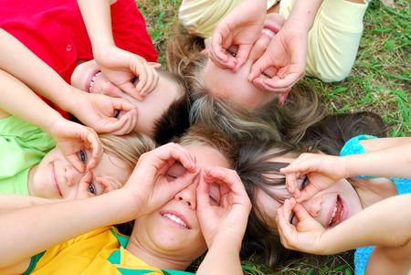 Five children having fun Stock Photo