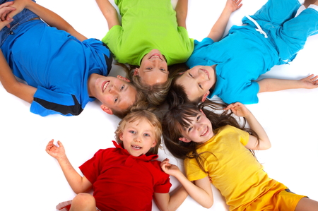Children Having Fun Banque d'images