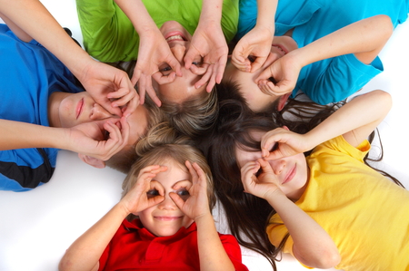 Children Having Fun Фото со стока