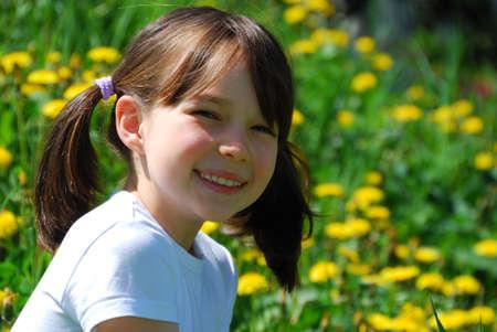 Smiling girl Banque d'images
