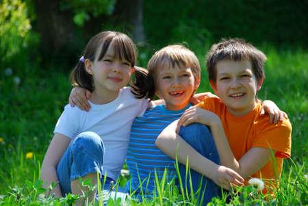 Children in meadow