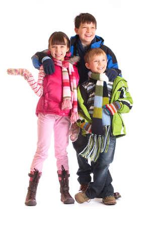 Happy siblings Banco de Imagens