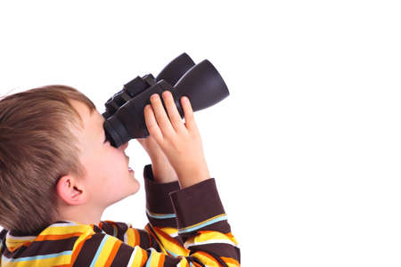 Boy with binoculars Stock Photo - 4615404