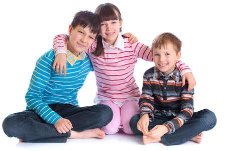 playmates: Tres ni�os felices