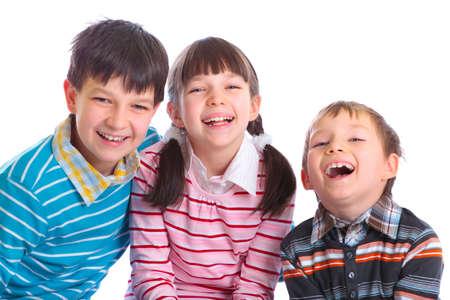eagerly: smiling children