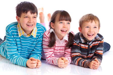 eagerly: Happy children Stock Photo