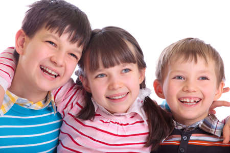acquaintance: Happy children Stock Photo