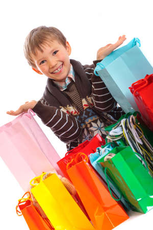 Boy with shopping bags Stock Photo - 4615374