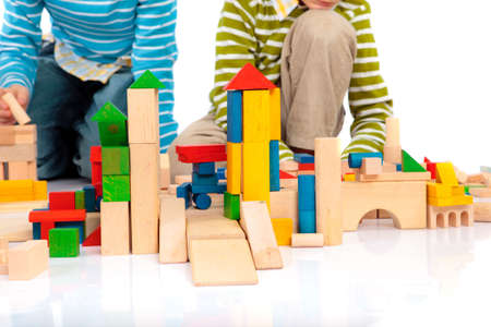 wooden toy: Toy blocks Stock Photo