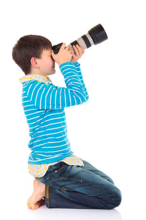 photo shooting: Boy with camera